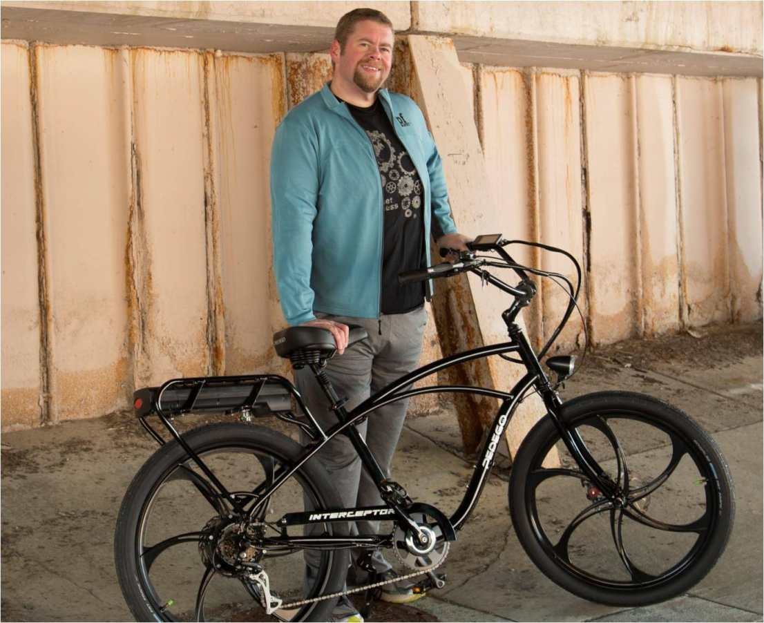Jim Clements' 2016 plans include riding his Pedego Interceptor.