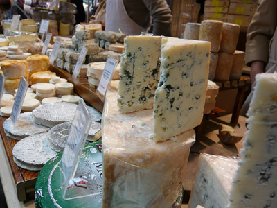 Various different stinky cheeses