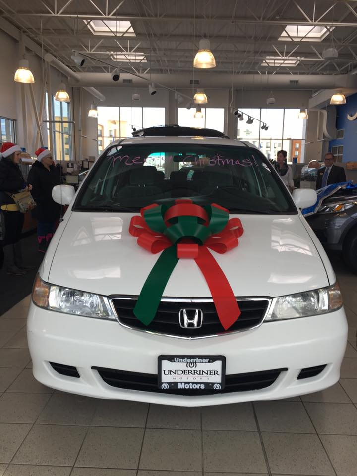 Underriner Honda Donates 2004 Honda Odyssey To Family In Need