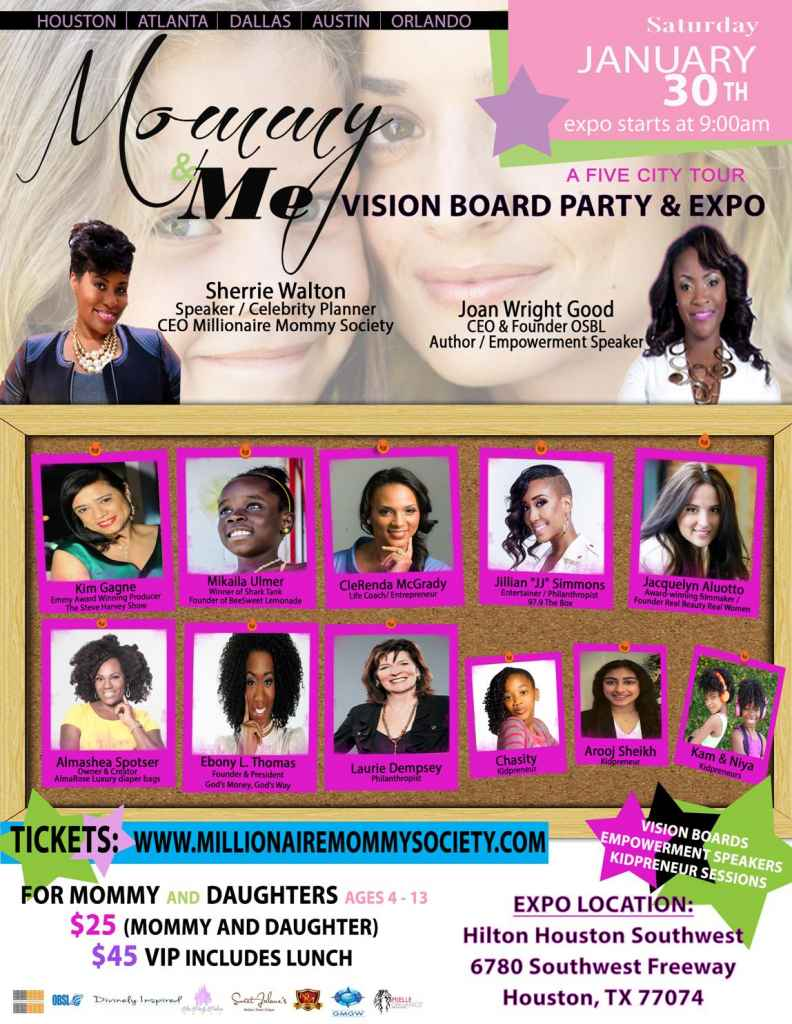 Mommy & Me Vision Board Party and Expo Five-City Tour