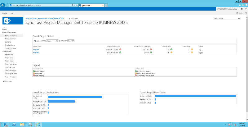 Sharepoint project management firm to offer small business for Sharepoint task list template