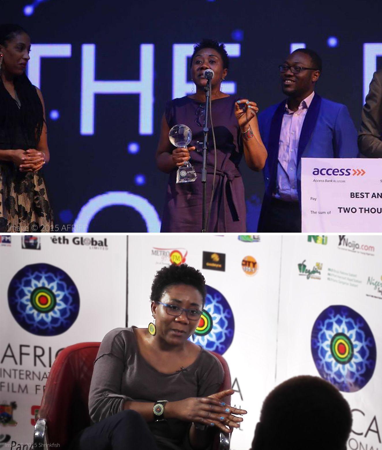 Ebele Okoye 2015 Africa International Film Festival / image ©AFRIFF+ Shrinkfish