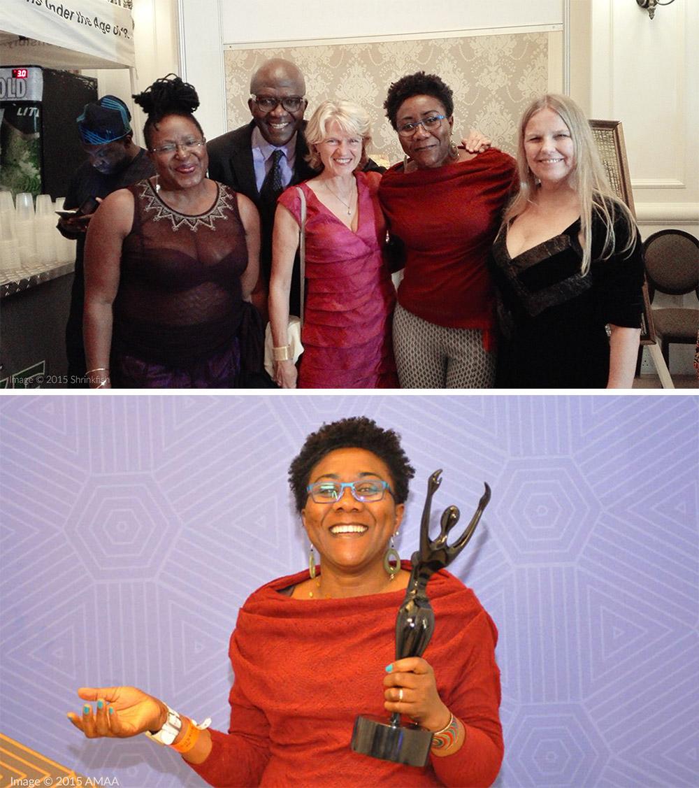 Ebele Okoye, Best Animation, 2015 Africa Movie Academy Awards / image ©AMAA