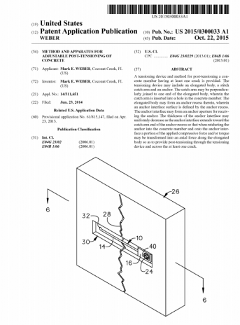 USPTO PATENT APPLICATION PUBLICATION