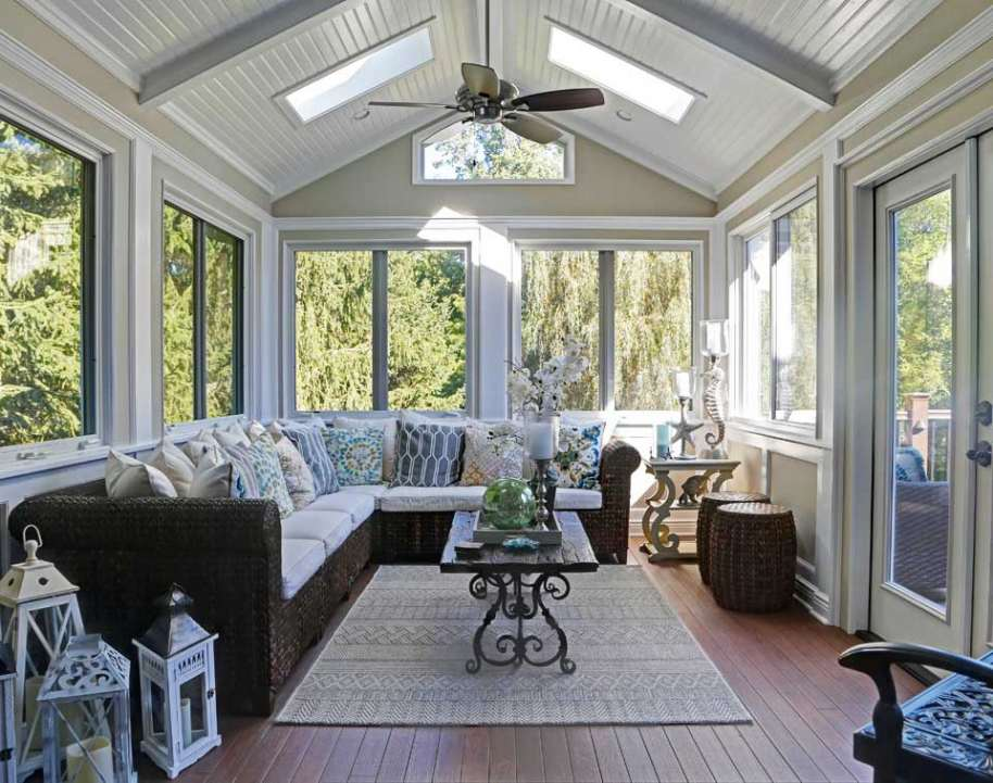 A Completed Sunroom Project By The Award Winning Architecture Firm ROAM  Design.