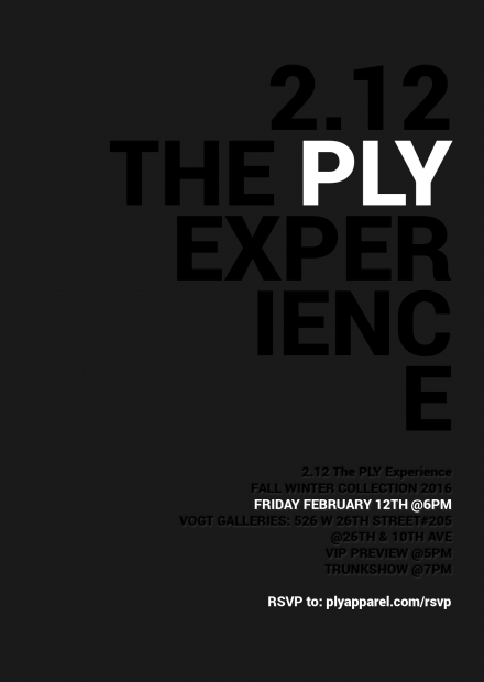 2.12 The PLY Experience Official Invitation