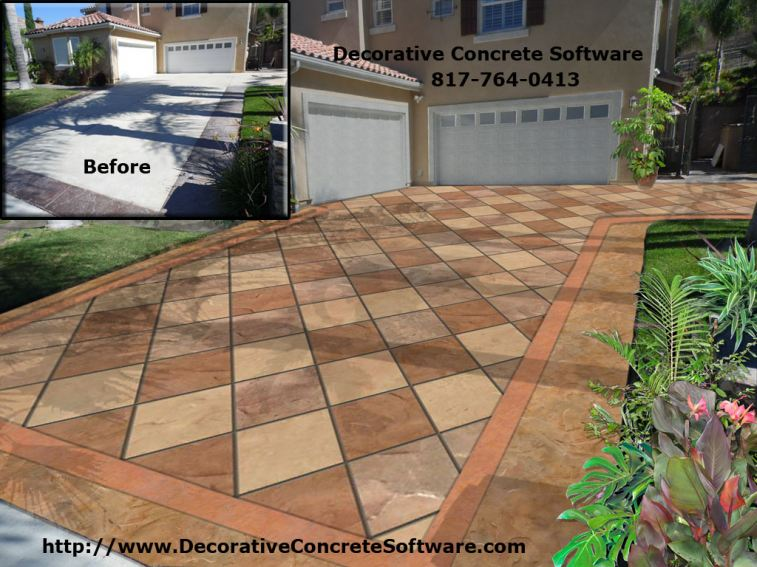 Decorative Concrete Design created in Decorative Concrete Software