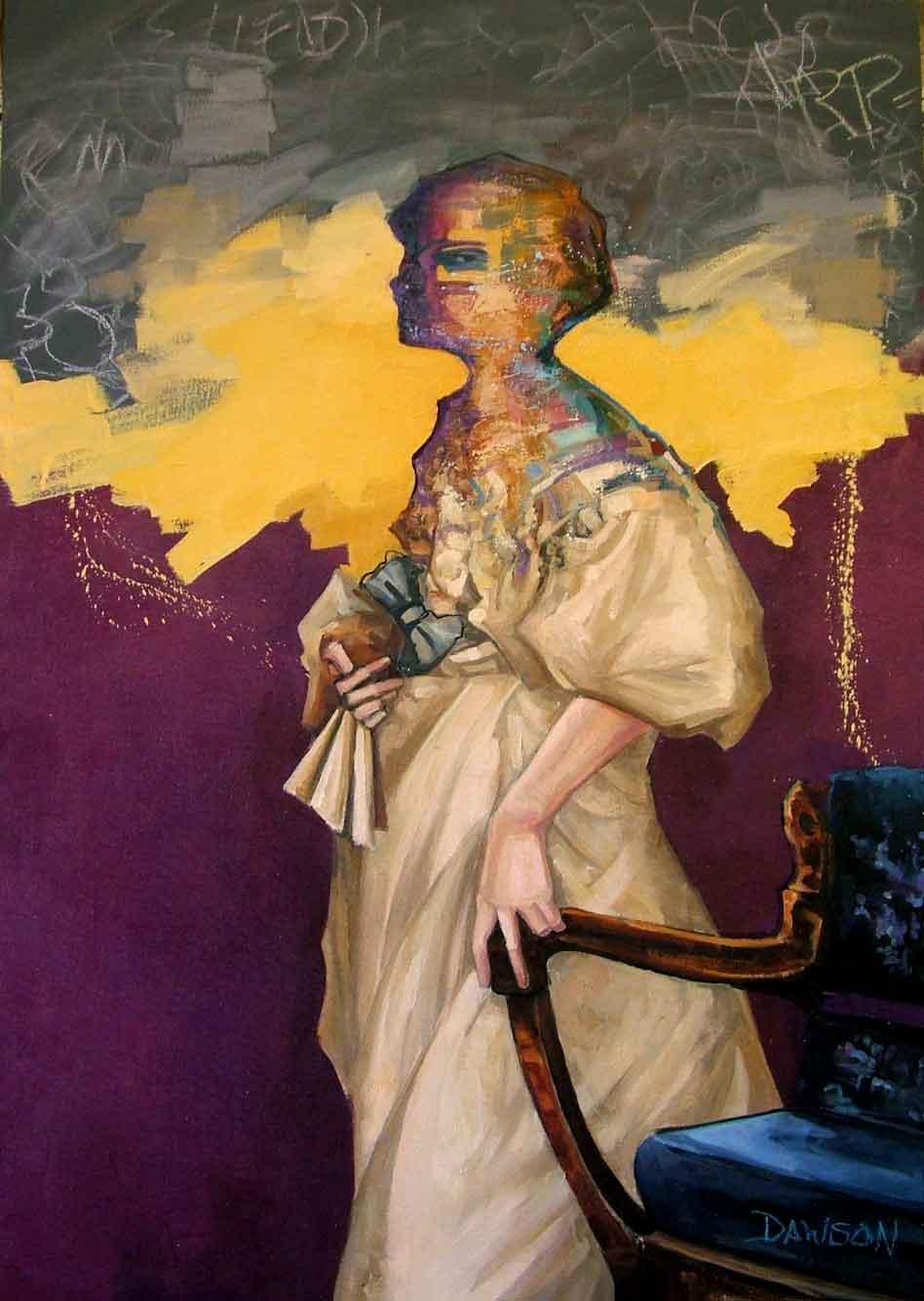 """Lavender Days,"" John Dawson, oil on canvas, 45"" x 32"""