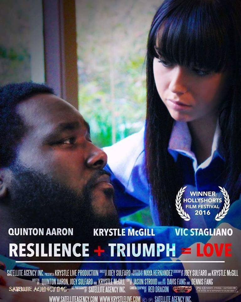 Resilience + Triumph = Love Award Winning Movie Poster 2016