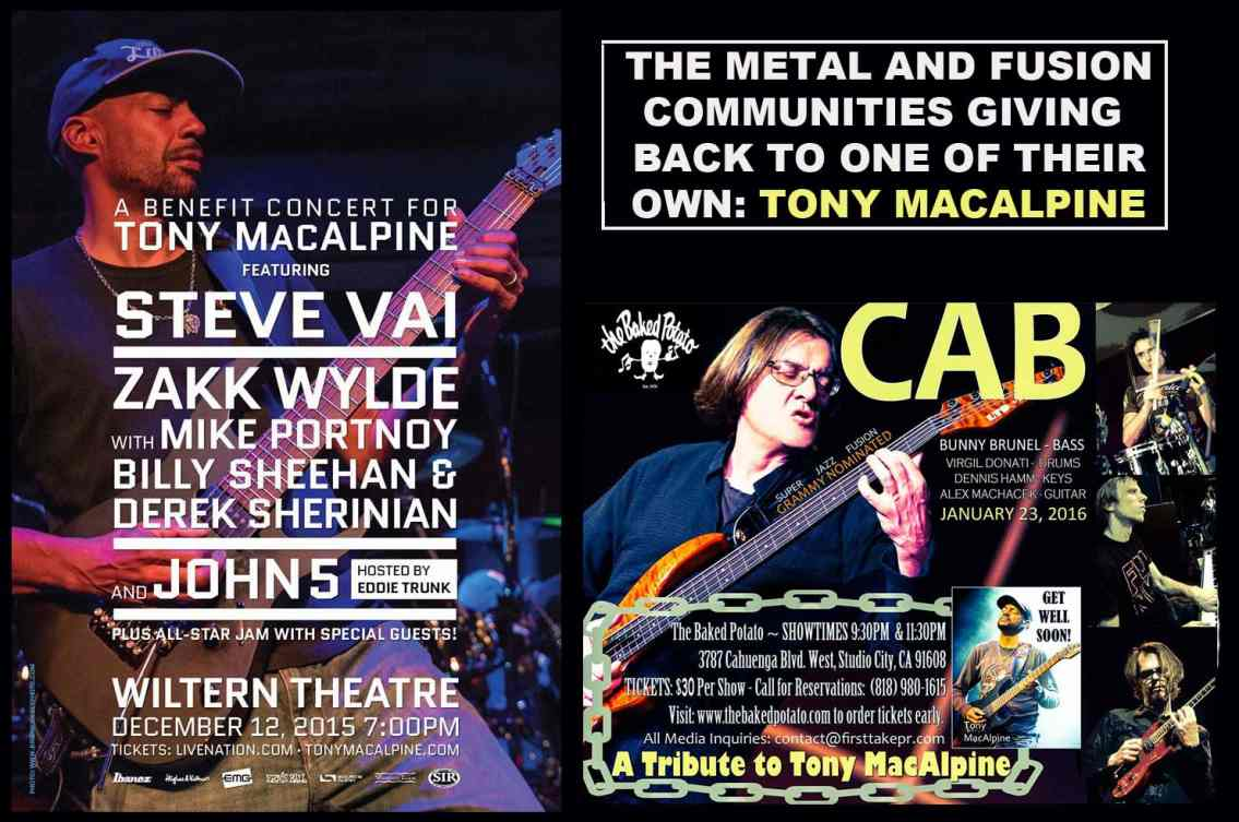 Wiltern and Baked Potato Concerts for Tony MacAlpine
