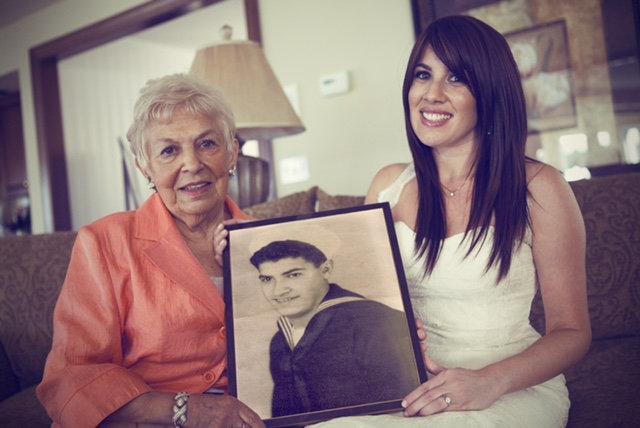 A photo of John Rozzano being held by his sister, Fran and great niece, Jaclyn.