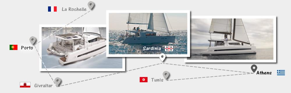 Catamaran Sailing Trip from France or Tunisia