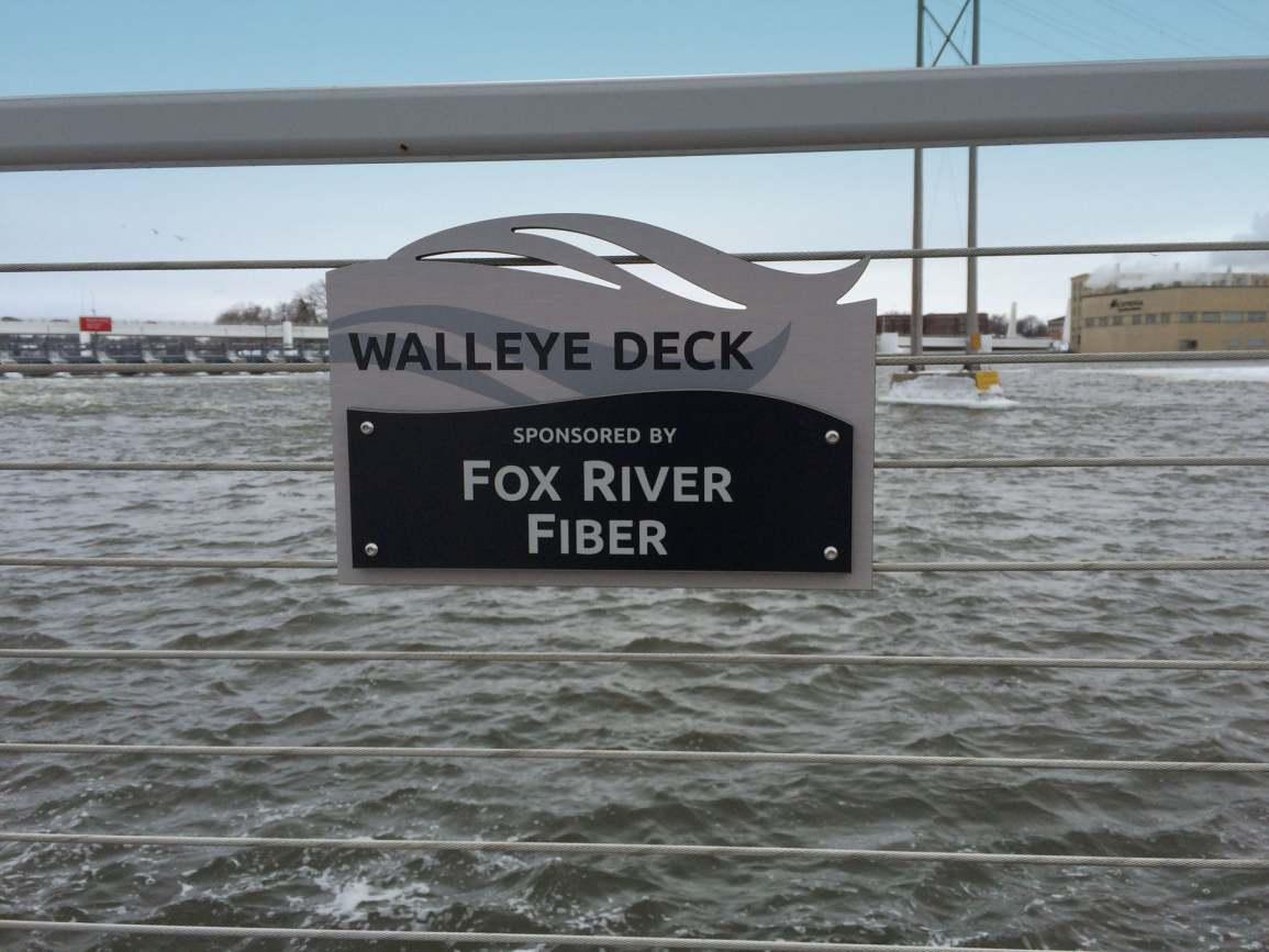 Fox River Fiber walleye deck sponsorship