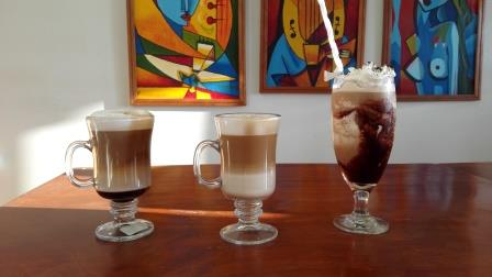 Enjoy hot and cold espresso drinks poolside!