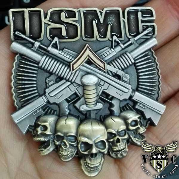 USMC PFC Rank Coin