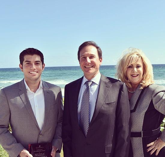 Brian Pearl, Scott Agran (President of Lang Realty), and Vini Antonacci