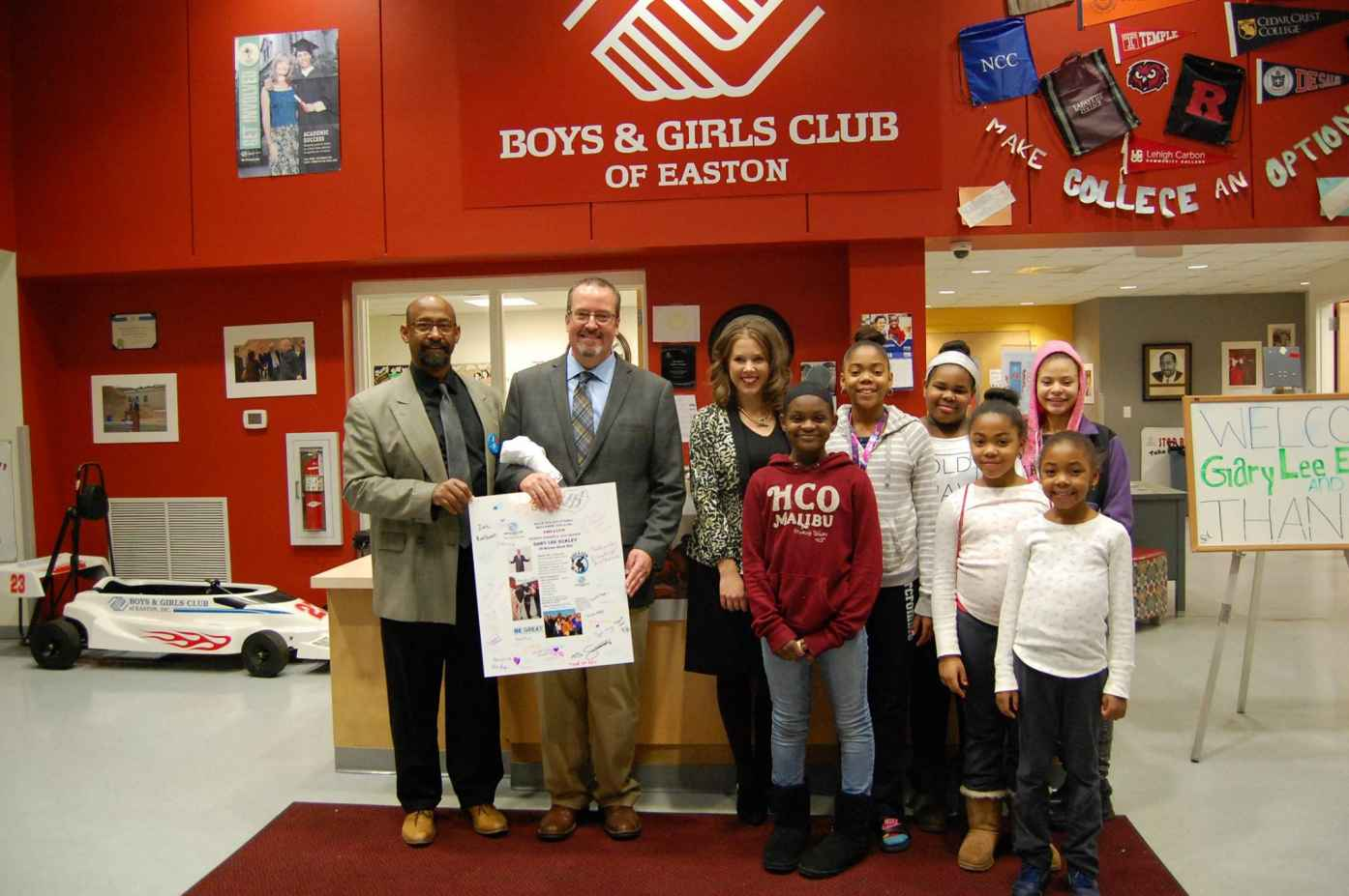 Gary Lee at Boys and Girls Club in Easton