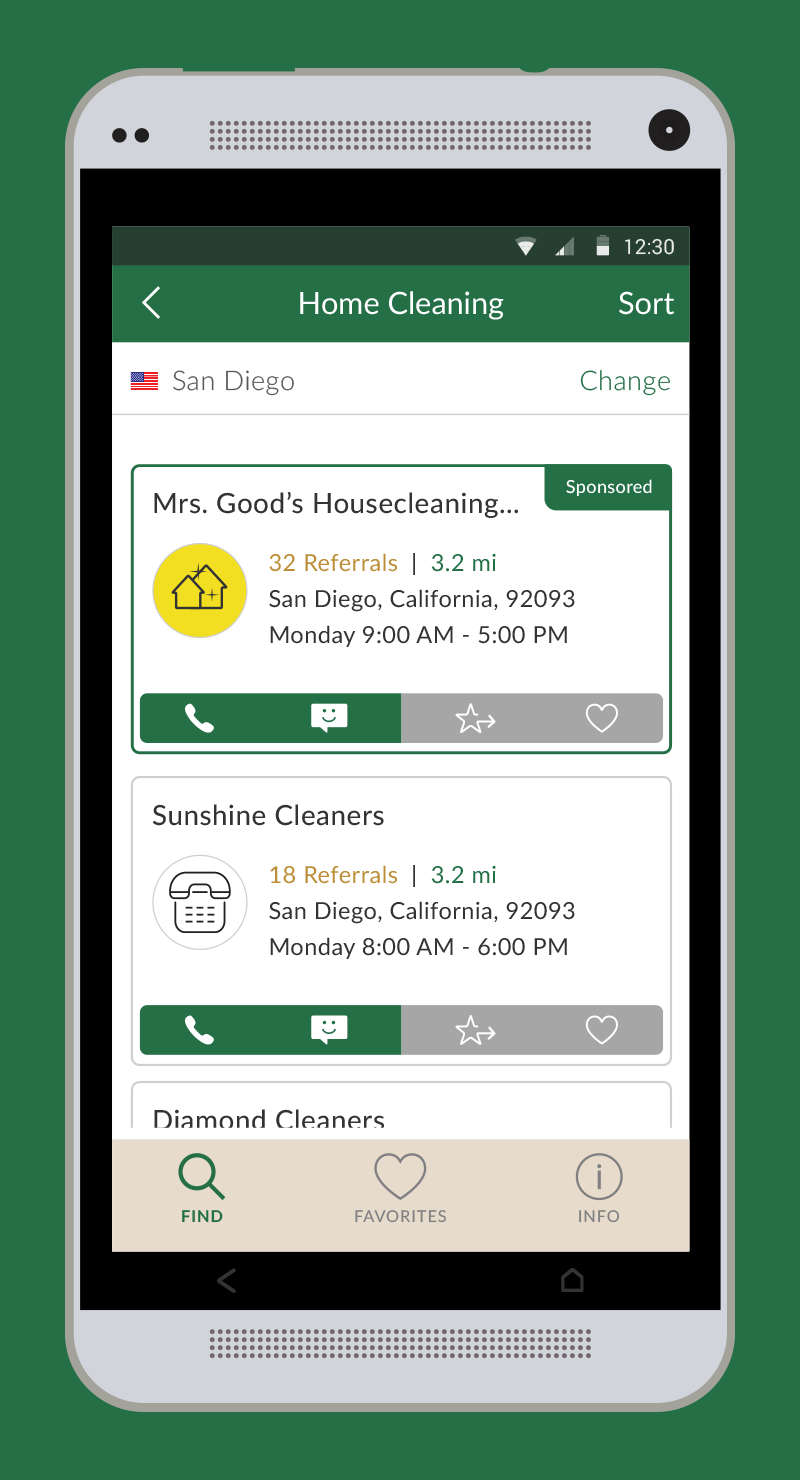 Add Your Favorite Businesses to a List of Favorites