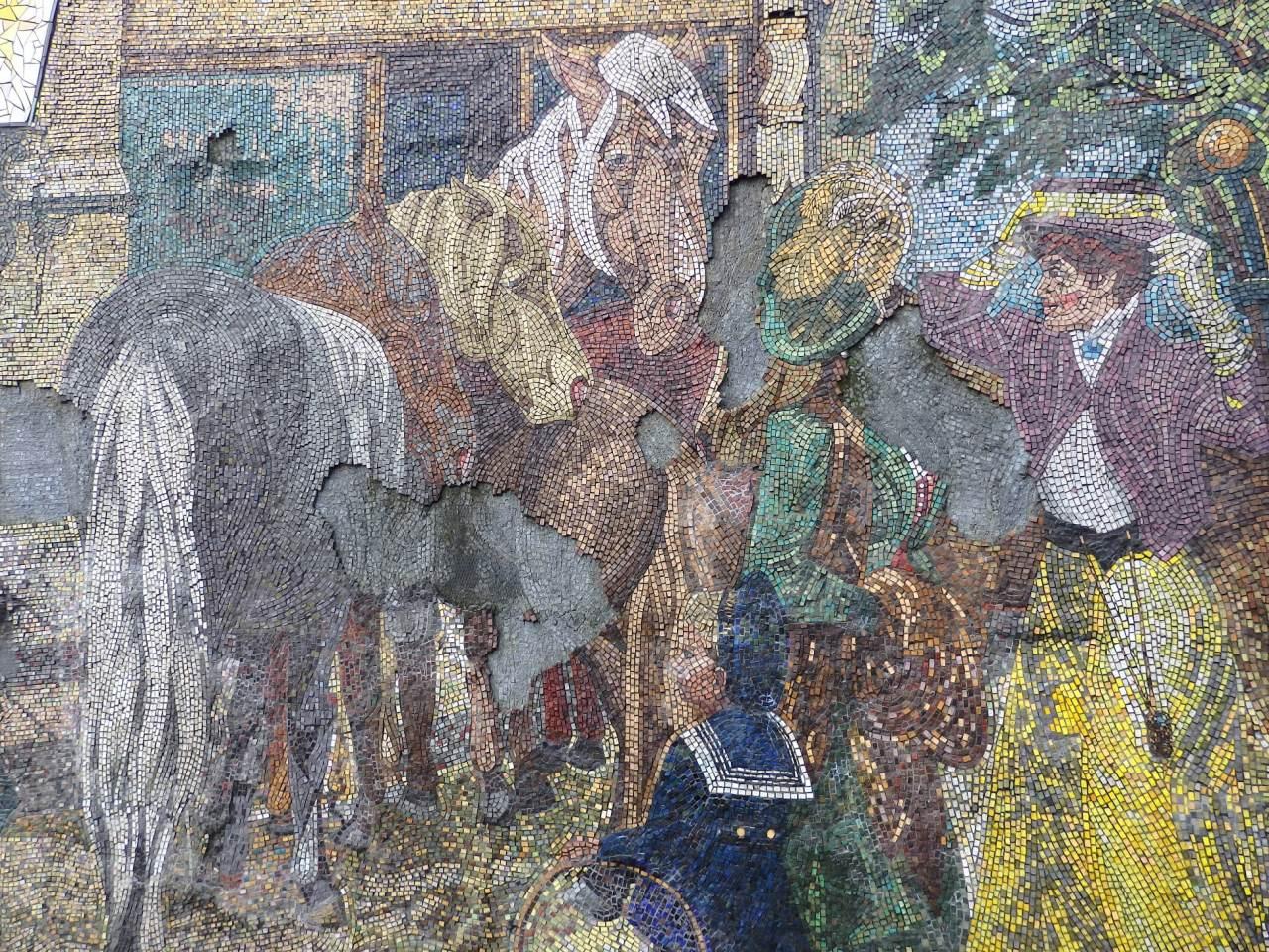 Horse fair by Kenneth Budd in Central Birmingham