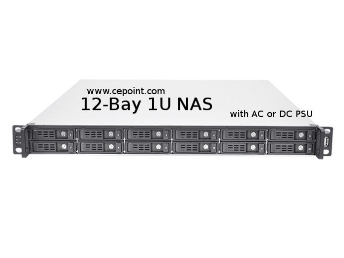 cepoint -RM1712 1U 12 bay NAS with DC power supply