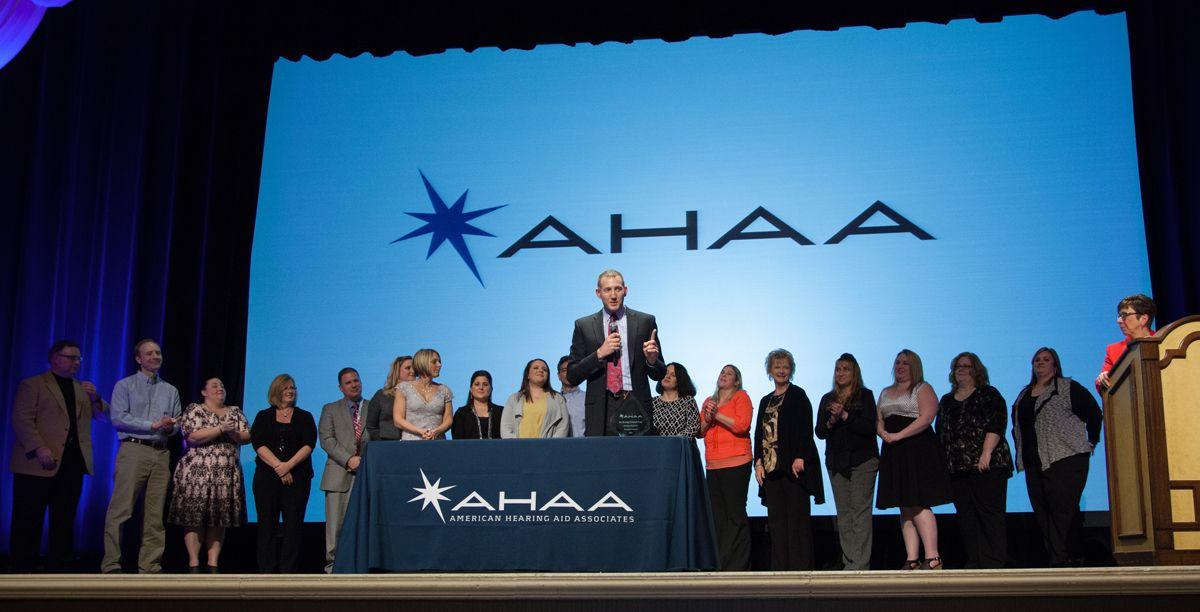 Chris Eckert, M.S., CCC-A, receives the President's Award