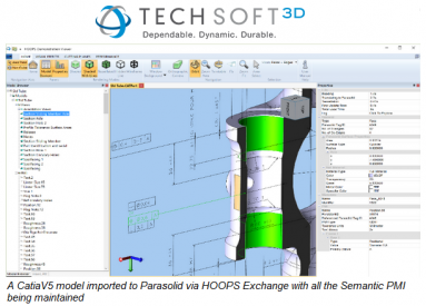 HOOPS Exchange 2016 Features Strong Parasolid Integration