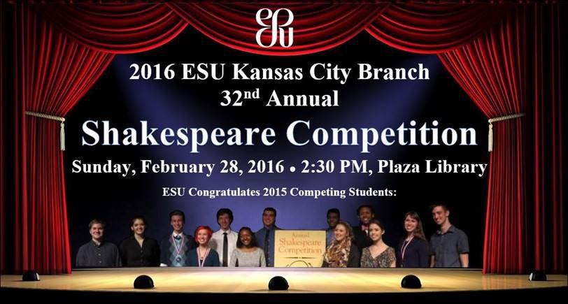 2016 ESU Kansas City Shakespeare Competition February 28, 2016