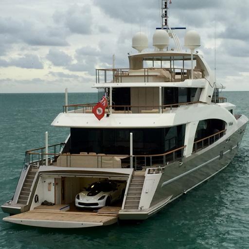 Putting A Corvette C7 On Megayacht La Pellegrina For Miami