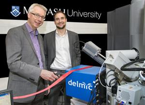 Prof. Polman & Dr. den Hoedt (DELMIC CEO) open the Monash CL facility.