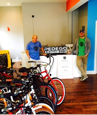 Pedego Spring Lake offers a fun fleet of Pedego electric bikes.