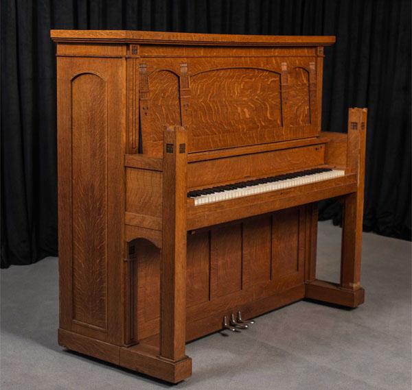 Antique Piano Shop Prairie Style Smith & Barnes Arts & Crafts Upright Piano