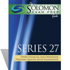Series 27 Exam Study Guide