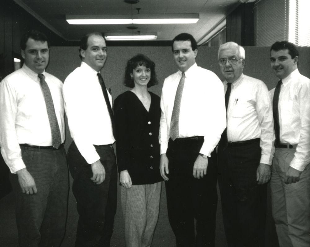 Garvey family (left to right): Kevin, Bernie Jr., Sheila, Ken, Bernie Sr., Dan