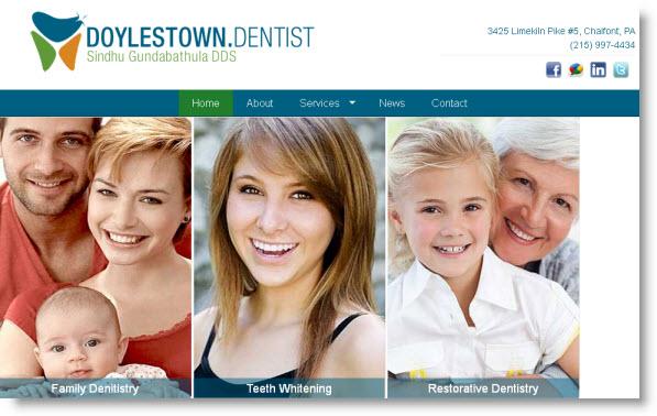 Dentist in Doylestown Pennsylvania area