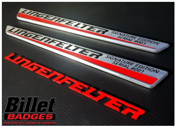Badges created for the Corvette Dream Giveaway Lingenfelter Signature Vette.