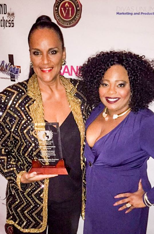 L R Jayne Kennedy Overton Honoree Cocoa Brown Co Host