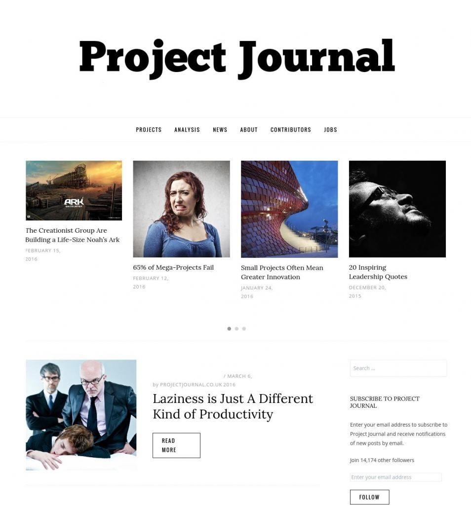 project management journal