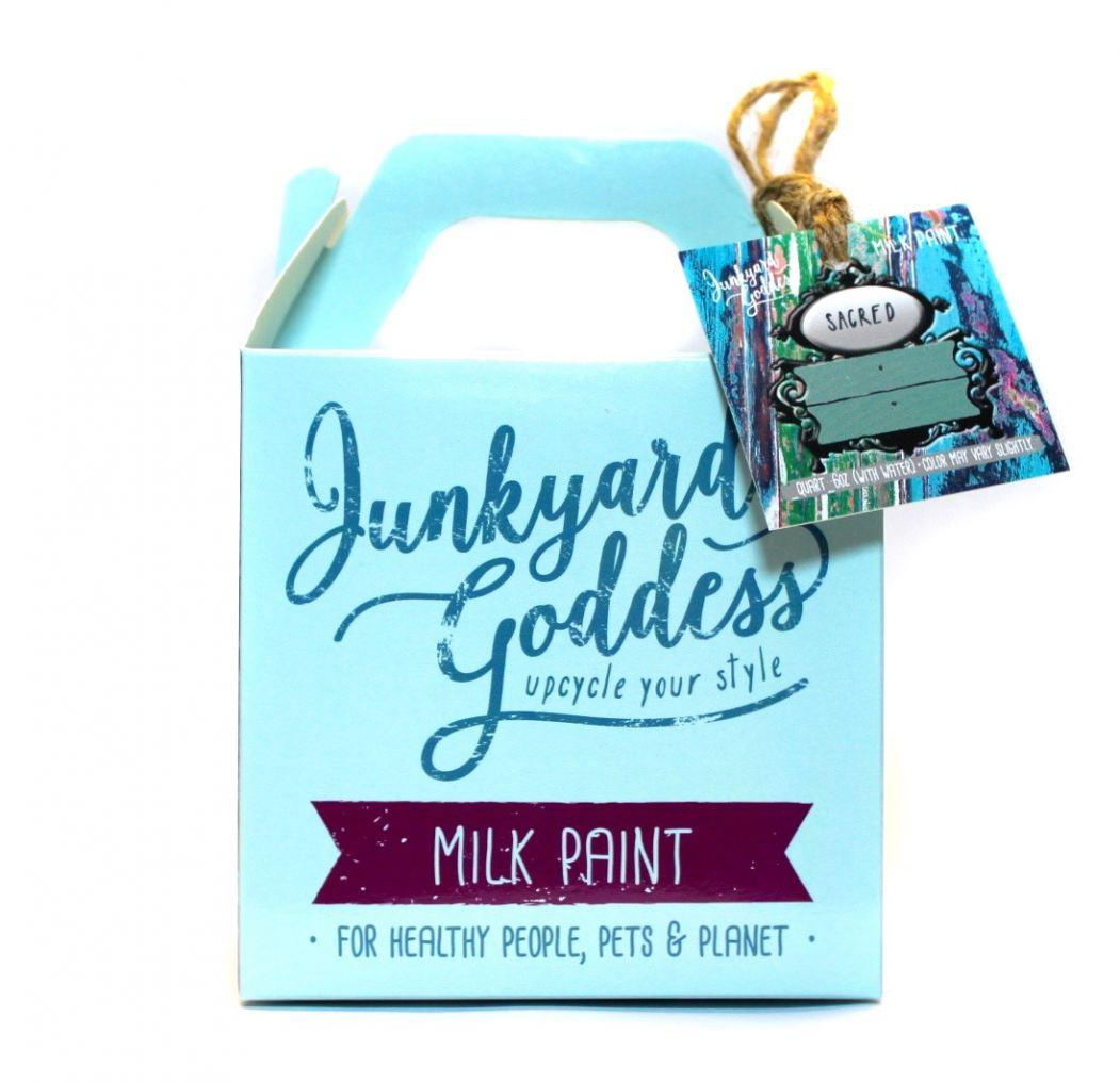 Junkyard Goddess Milk Paint Packaging
