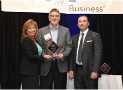 Pedego's Don DiCostanzo receives the OCBJ Excellence in Entrepreneurship award.