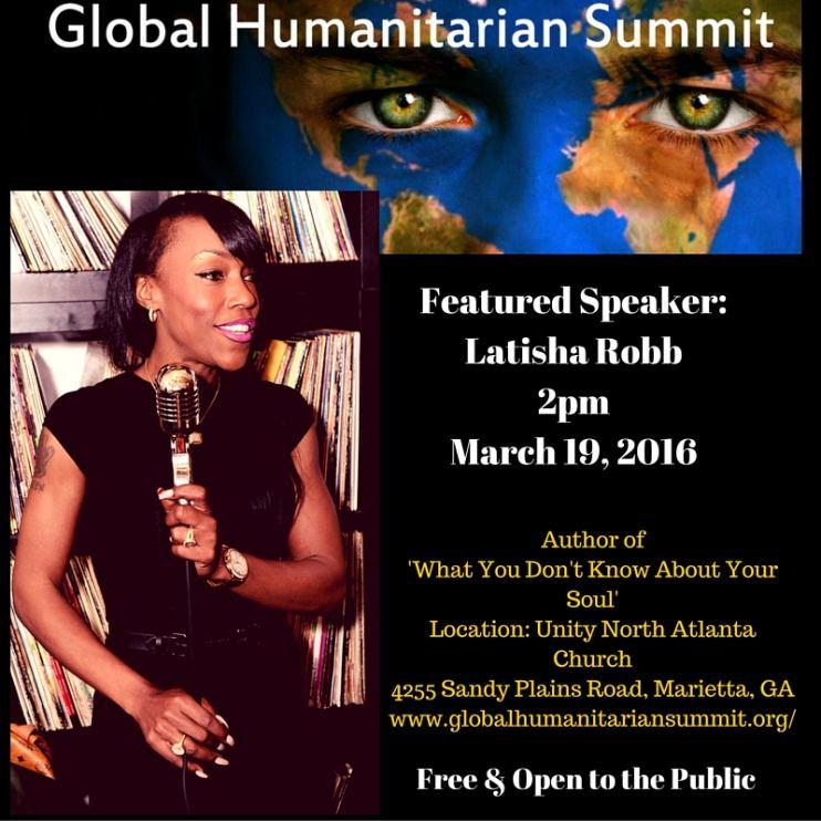Global Humanitarian Summit Featured Speaker- Latisha Robb