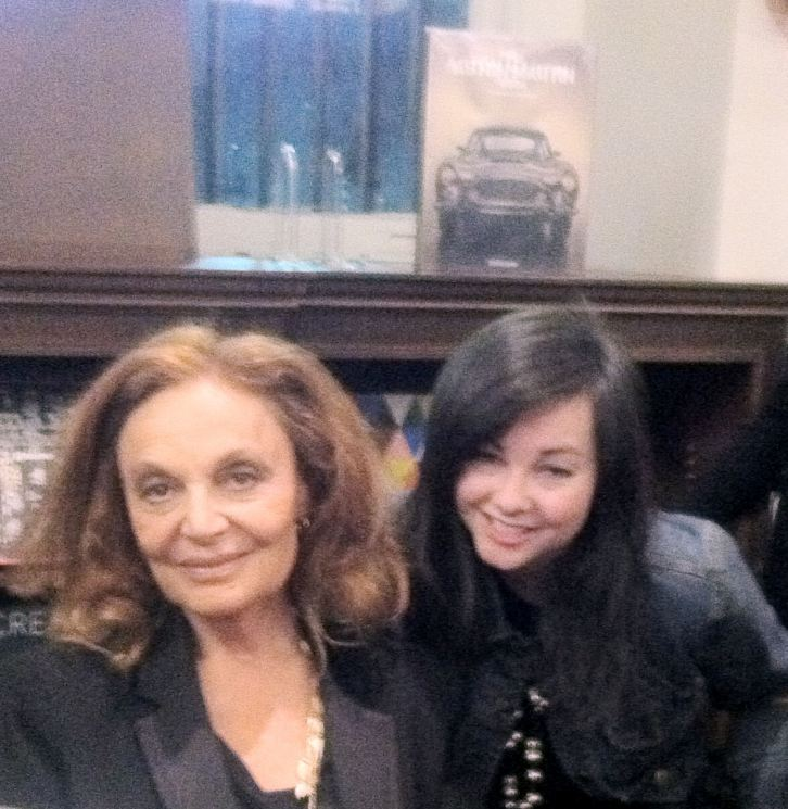 Diane von Furstenberg (L)  & Molly C. Braswell (R) at Rizzoli Books, NYC