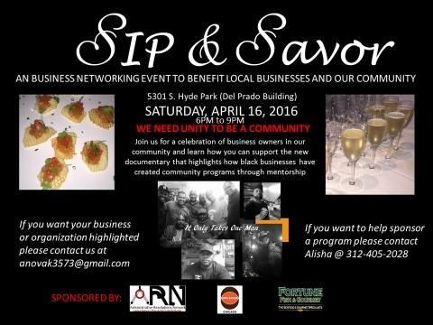 Alisha Roberts Novak Announces SIP And SAVOR Business Event  4/16 Chicago