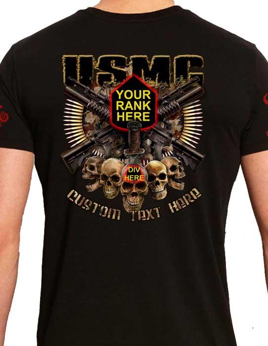 USMC Custom Rank T-Shirt