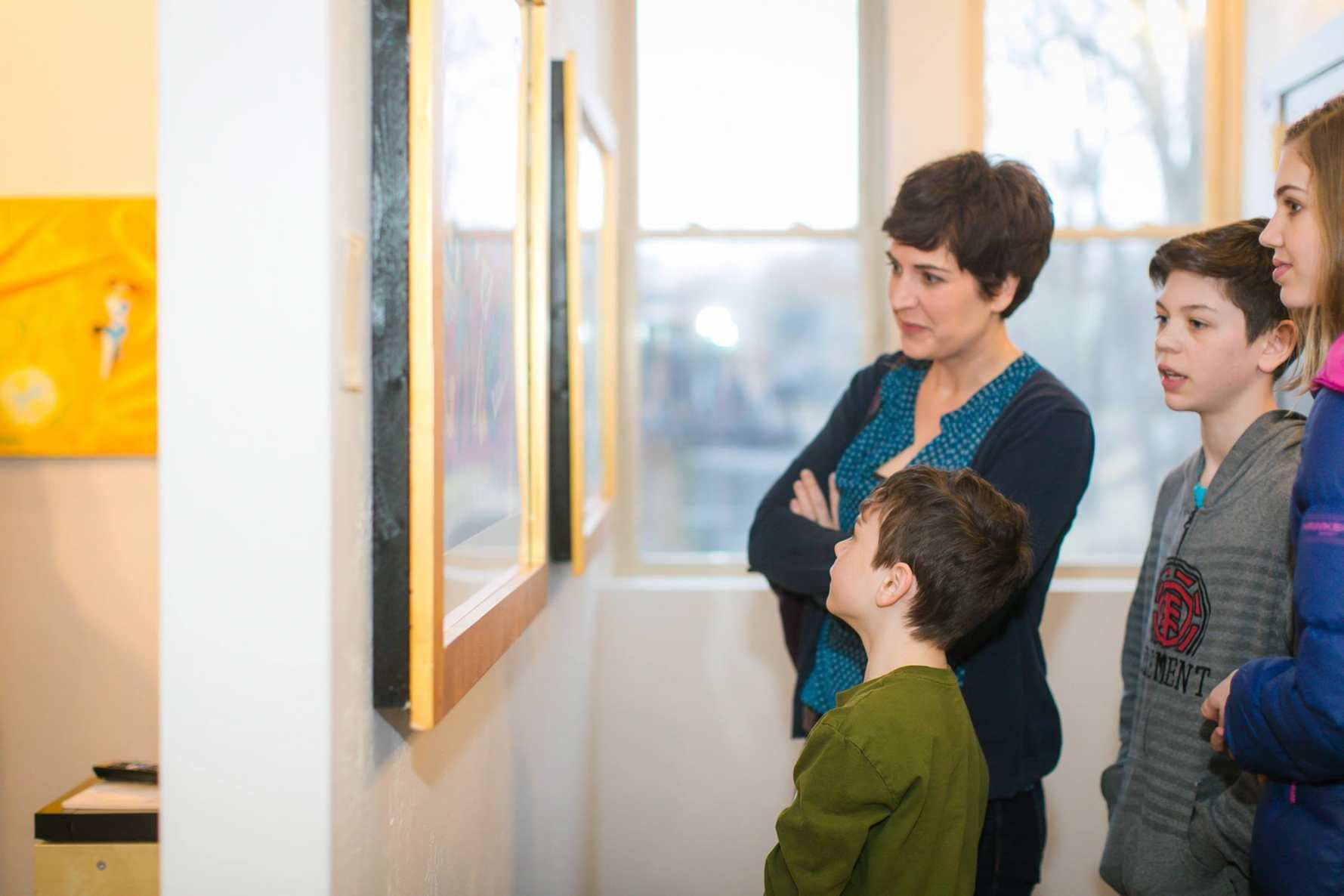 Appleton family at Pierre H. Matisse art exhibit. Image by Capture Life Moments.