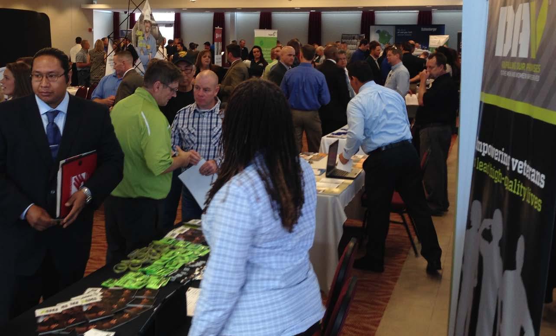 Activity at a RecruitMilitary Veteran Career Fair