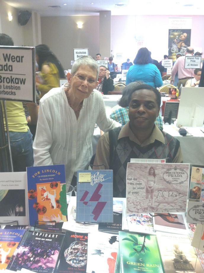 Poets Rosalie Calabrese (L) & Austin Alexis (R) Rainbow Book Fair 2015