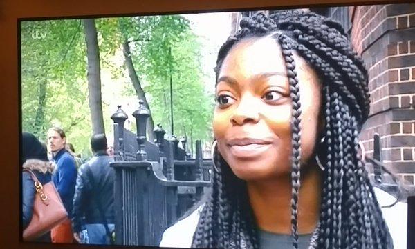Undergraduate Student Samantha Imafidon on ITV