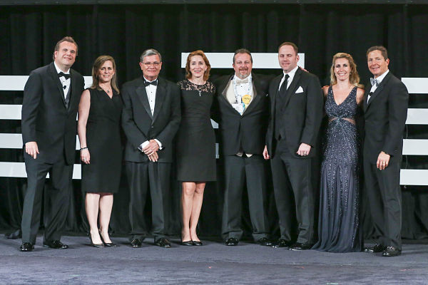 3rd & 4th from Left: James Wright, President & Cheryl Dillon, EVP