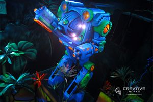 Warbot from Putt-Putt FunHouse laser tag arena