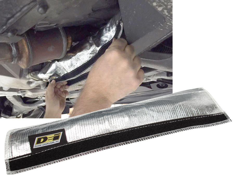 DEI Oil Cooler Line Heat Shroud designed for the C7 Corvette